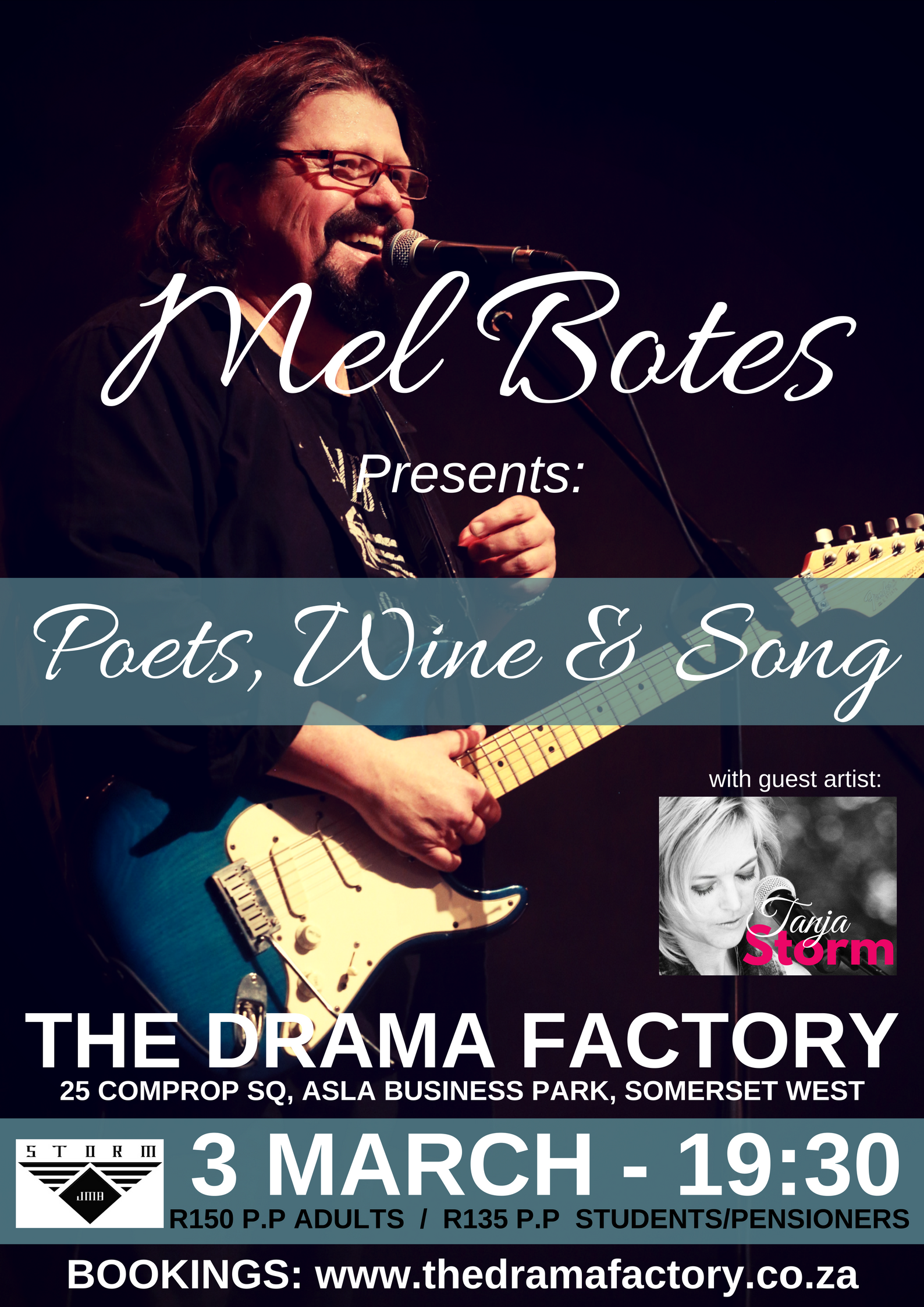 Mel Botes, Poets, wine & song